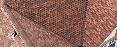 Tiled roof Valley
